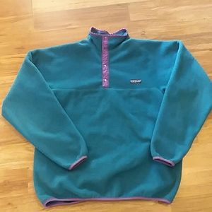 Patagonia fleece blue sweater pullover womens xl